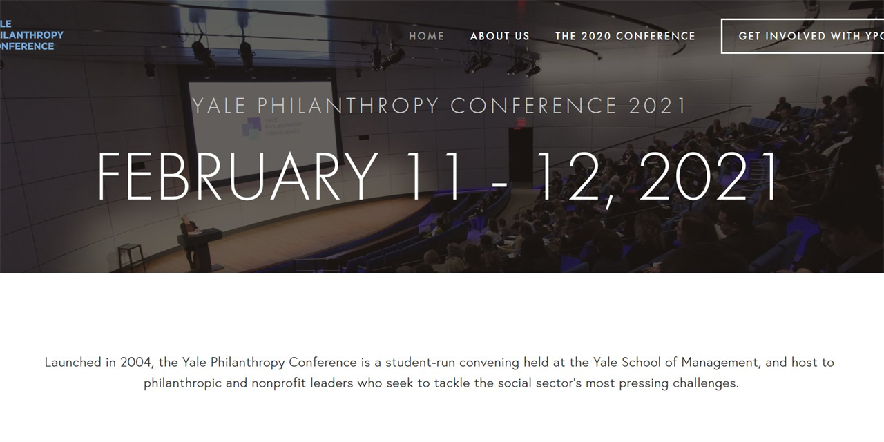 [VIRTUAL] Yale Philanthropy Conference 2021: Reimagining Philanthropy Event Logo