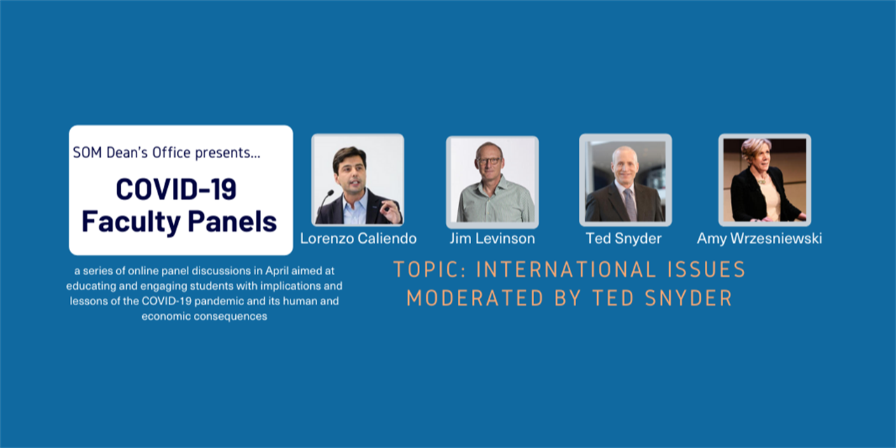 [WEBINAR] COVID-19 Faculty Panel: International Issues
