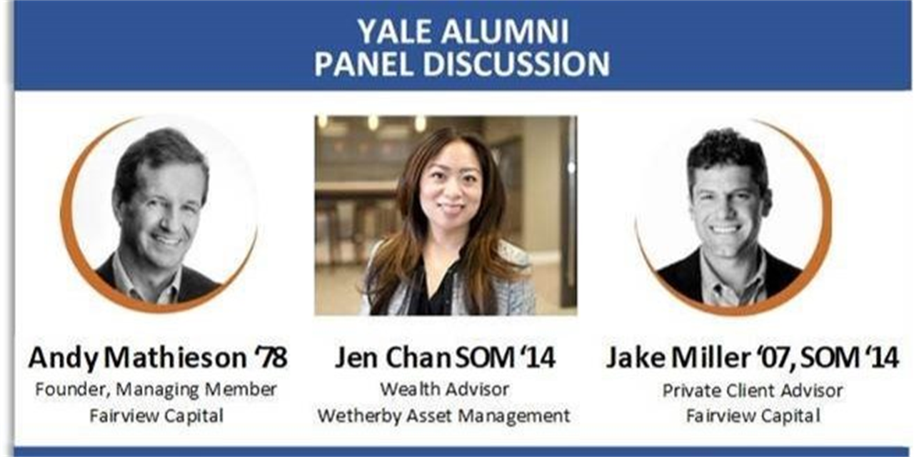 [Yale Club of San Francisco] Practical Investment Advice for Individual Investors and their Families Event Logo