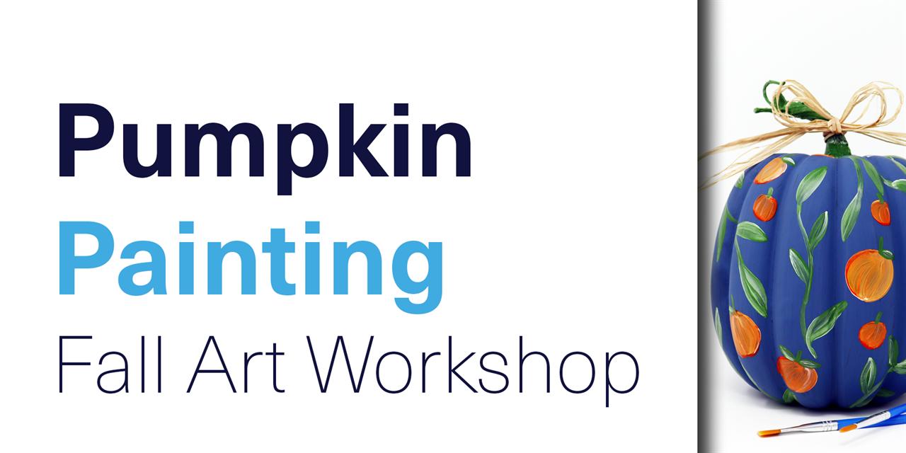 [VIRTUAL] Pumpkin Painting: Fall Art Workshop Event Logo