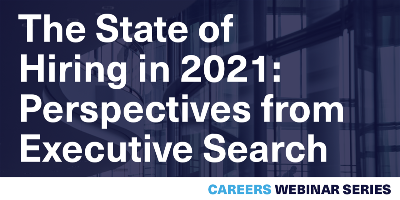 [WEBINAR] The State of Hiring in 2021: Perspectives from Executive Search Event Logo