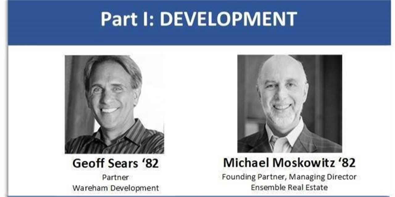 [Yale Alumni Real Estate Association] Real Insights Series Development: Geoff Sears '82 BA and Michael Moskowitz '82 BA Event Logo