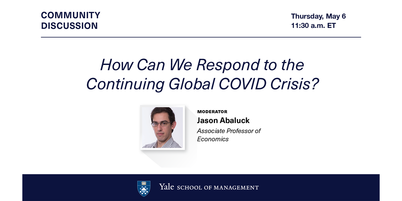 [VIRTUAL] Community Discussion: How Can We Respond to the Continuing Global COVID Crisis? Event Logo