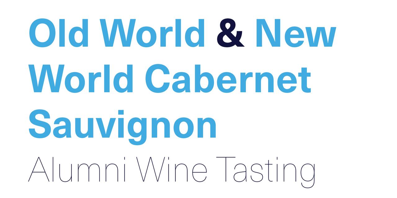 [VIRTUAL] Old World & New World Cabernet Sauvignon Alumni Wine Tasting Event Logo