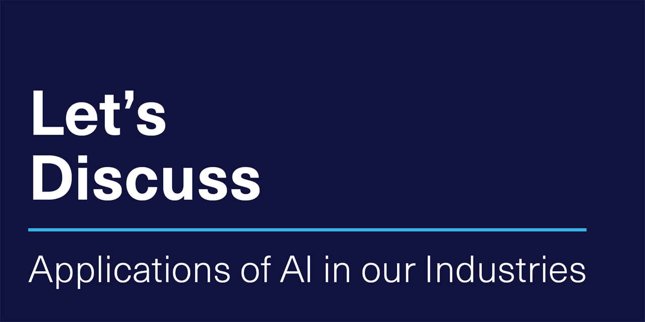 [VIRTUAL] Let's Discuss | Applications of AI in our Industries Event Logo