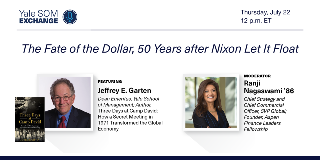 [WEBINAR] The Fate of the Dollar, 50 Years after Nixon Let It Float Event Logo