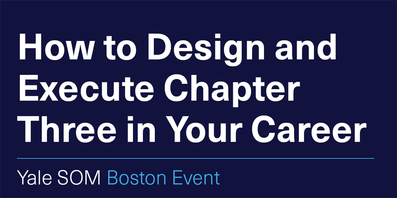[VIRTUAL] How to Design and Execute Chapter Three in Your Career Event Logo