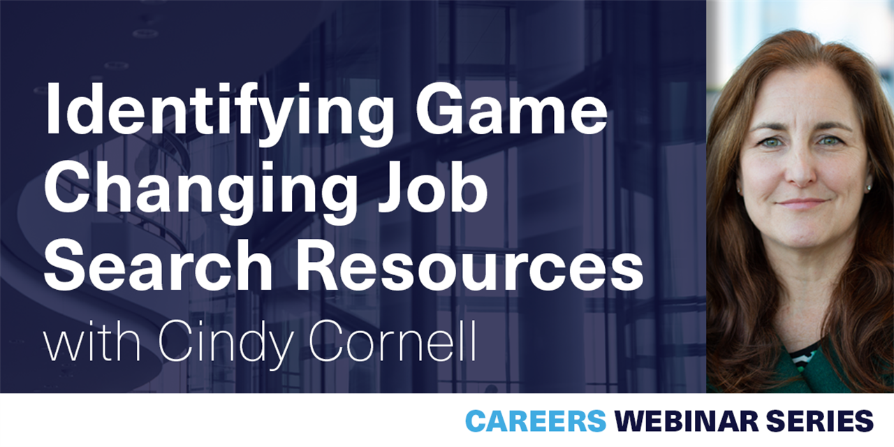 [WEBINAR] Identifying Game Changing Job Search Resources Event Logo