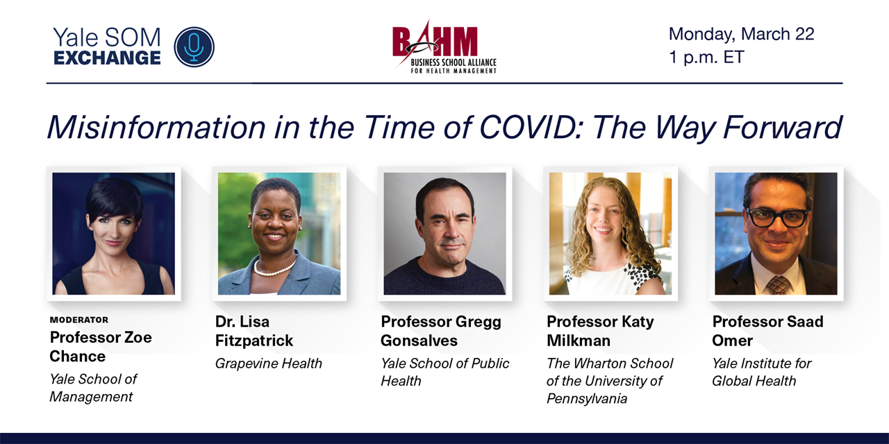 [WEBINAR] Misinformation in the Time of COVID: The Way Forward Event Logo