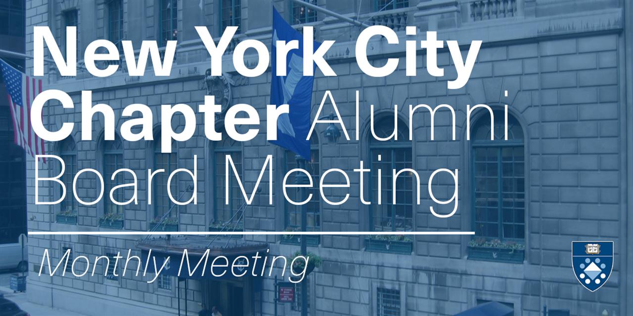 [VIRTUAL] NYC Chapter Alumni Board Meeting (July) Event Logo