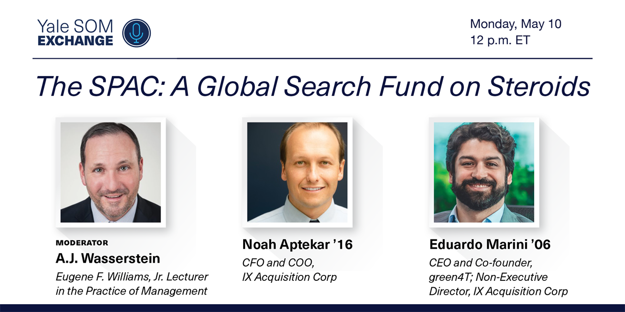 [WEBINAR] The SPAC: A Global Search Fund on Steroids Event Logo
