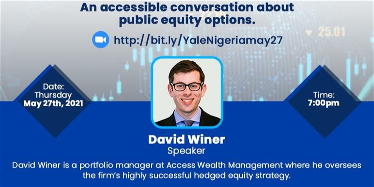 [Yale Club of Nigeria] An Accessible Conversation About Public Equity Options Event Logo